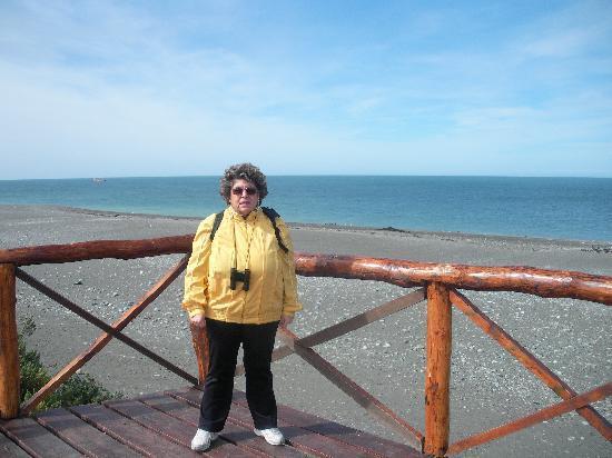 Rio Gallegos, Argentina: davanti alla spiaggia -stretto di Magellano