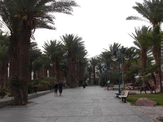 Herods Palace Hotel Eilat : Walk from the swimming pool to the promenade, with its shops, bars and restaurants