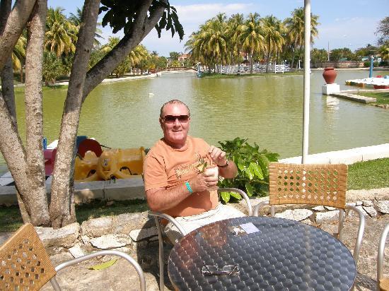 Melia Las Americas: Relaxing in Josone Park Varadero with Pina Colada