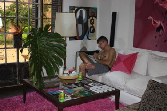 Tesorito Bed & Breakfast: me in the living room