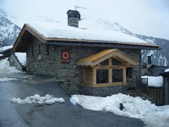 Chalet Chez Robert taken from Ski Lift