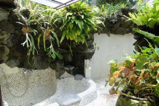 Villa Pantulan: The outdoor shower was a must