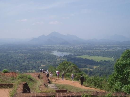 Citadel of Sigiriya - Lion Rock: Sigiriya: view from the very top of the rock