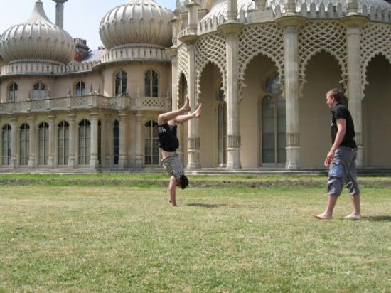 Royal Pavilion: pas radza kiemelyje,leido padurniuoti....