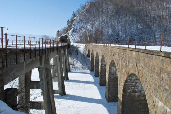 อีร์คุตสค์, รัสเซีย: the old Baikallake-railway, where the Transsib drove to Port Baikal and there by ship or over th