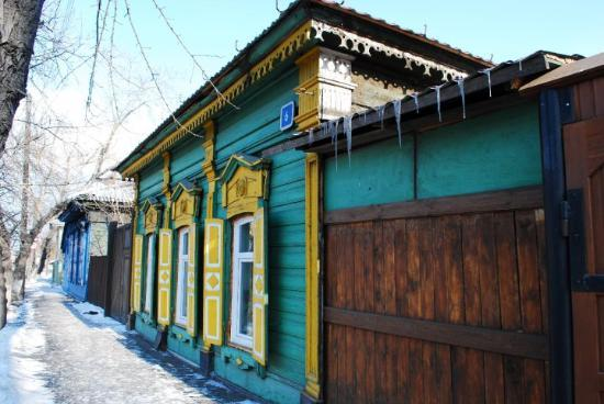Иркутск, Россия: old wooden house in Irkutsk