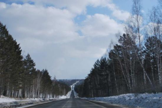 Irkutsk, Russland: on the way to Baikal