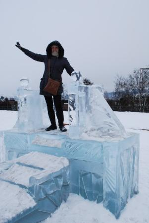 ice city within the city of Krasnoyarsk