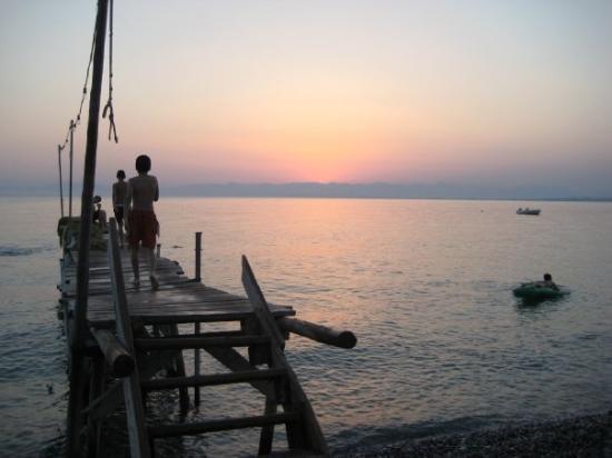 Sunset, kalamata greece