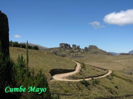 Cumbe Mayo is located about 12 miles (19 km) southwest of the Peruvian city of Cajamarca, at an