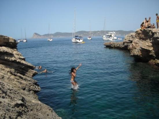 Playa de Cala Bassa: Patos al aguaaaaaaaaa!!!