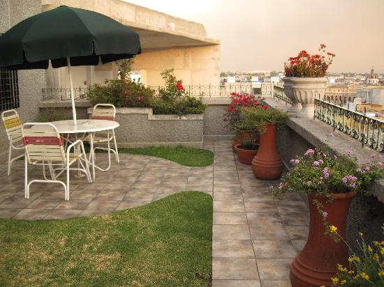 Hotel Catedral: the terrace