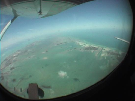 View on the ride up from Skydive Key West's Cessna 182
