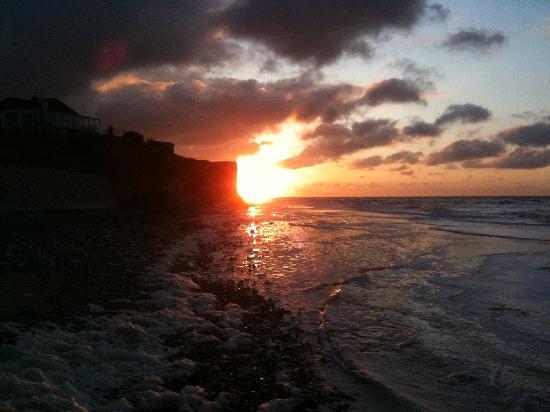 Le Capotel : coucher de soleil sur la descenderie