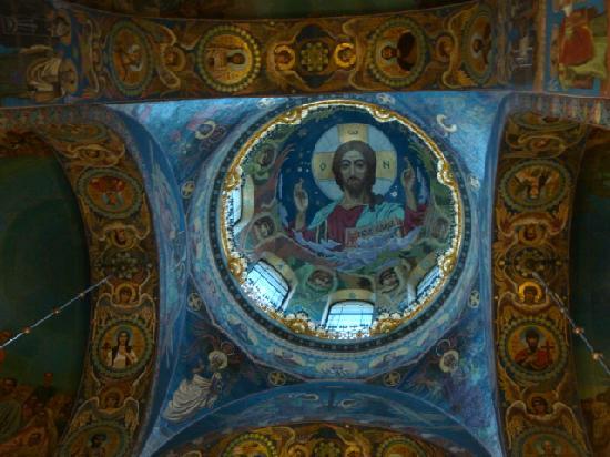 São Petersburgo, Rússia: Interior of Church of Spilled Blood