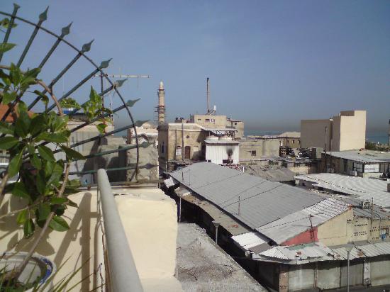 Old Jaffa Hostel : Blick von der Dachterrasse