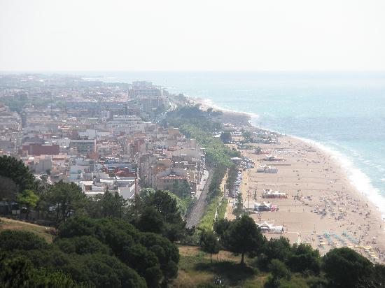 Playa de calella abril 2010