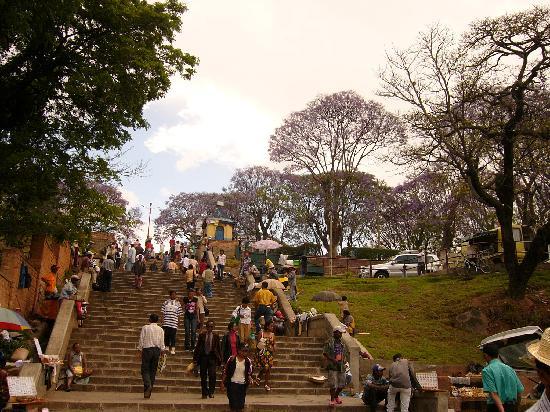 Antananarivo, Madagaskar: Treppe zur Obere Stadt