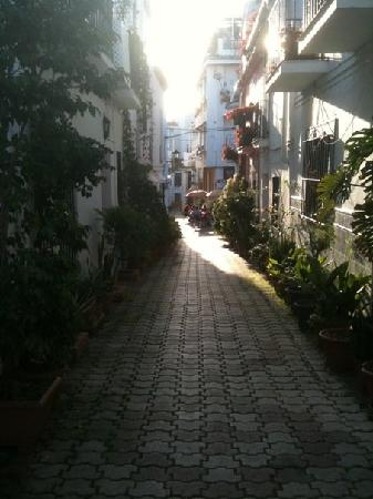 La Villa Marbella: Street of Main Hotel