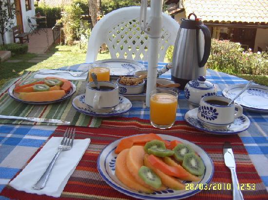 Alma de 7 Lunas: El desayuno despues del temazcalli (nosotros lo pedimos)