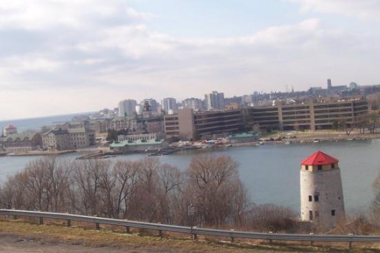 Kingston, Kanada: Vista del Royal Military College y el río Ontario.