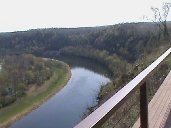 The White River Inn: the view from the back deck