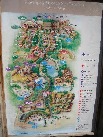 Disneyland Like Map Picture Of Movenpick Resort Spa Dead Sea - Dead sea map