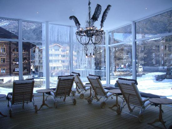 Wellness and Vitalhotel Pirmin Zurbriggen : view from the spa room