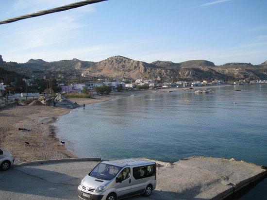 Stegna, Grecia: vue de la terrasse