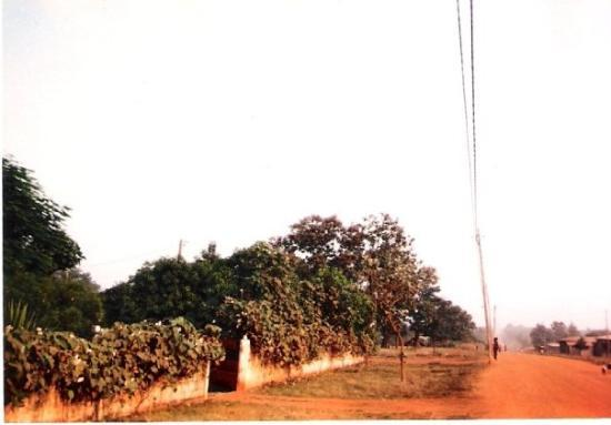 Sokode, Togo: Our home is to the left.