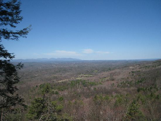Mohonk Mountain House: View from one the trail of the resort