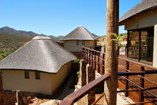 White Lion Lodge: Terrace and lodges