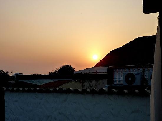 Casa Santa Ana: Sonnenuntergang von der Pool-Terasse aus