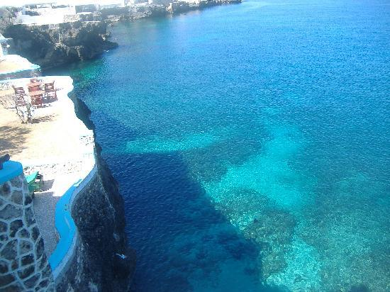 Blue Cave Castle: View from upper tower room balcony.