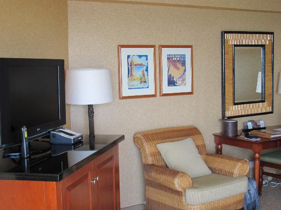 Hyatt Regency Waikiki Resort & Spa: tv/sitting area