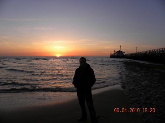Oostende (Belgia) - Marea Nordului (apus de soare)