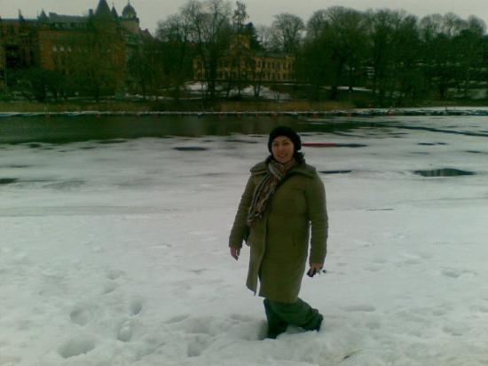 Djurgarden: Com neve praticamente até aos joelhos!!! :)