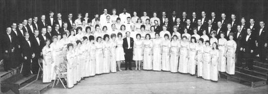 Keller Auditorium: PSChoir at the Civic Auditorium (now the Keller) in 1966 - Frank Holman, conductor