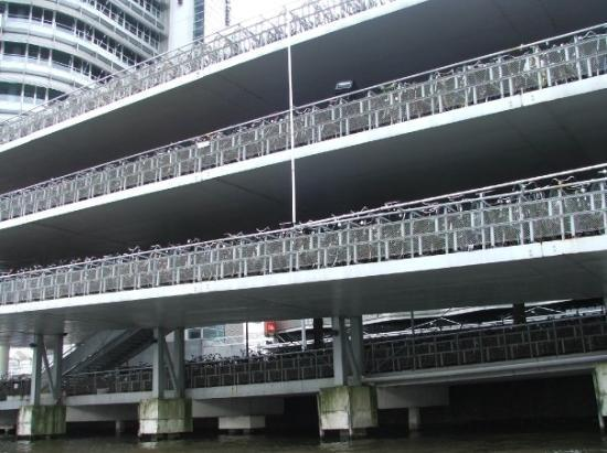 Amsterbike : 3 story bicycle parking station, Amsterdam