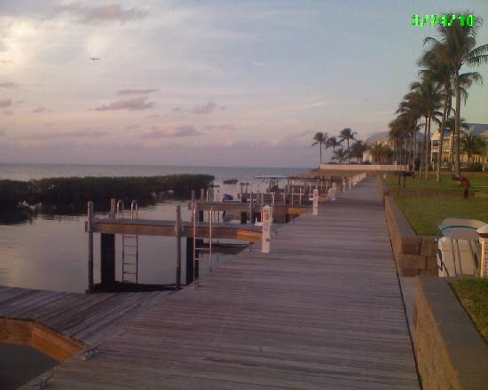 Indigo Reef Marina Homes Resort: our dock