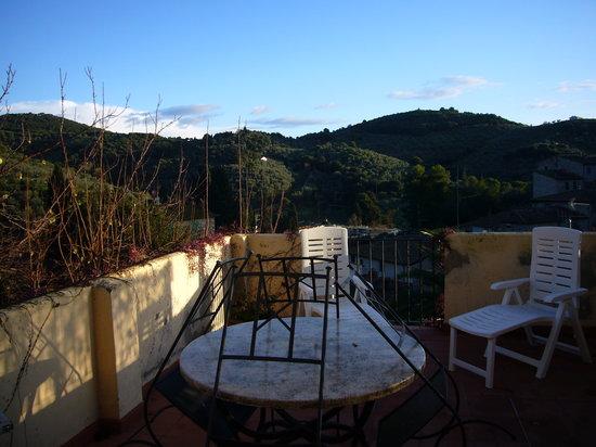 Suvereto, Italy: Da un terrazzino di Casa Vacanze Il Chiostro in autunno