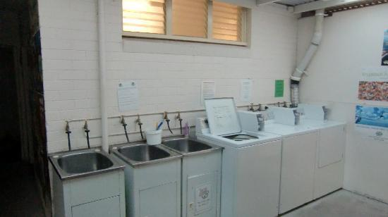 One World Backpackers: laundry room