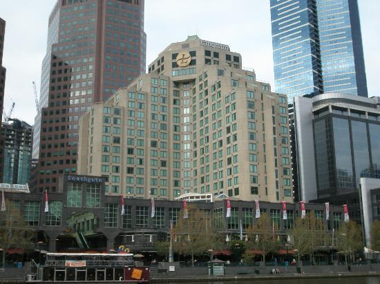 The Langham, Melbourne: Looking across the Yarra to The Langham