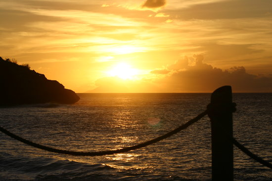 Five Islands Village, Antigua: A Galley Bay sunset.