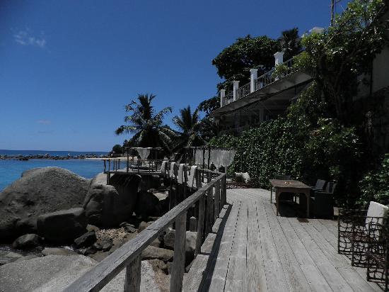 جلاسيس, سيشيل: Il pontile sulla spiaggia