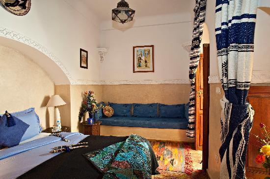 Riad Zen House : Chambre Bleue