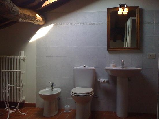 Tuscany Meanders holiday houses: bathroom with shower