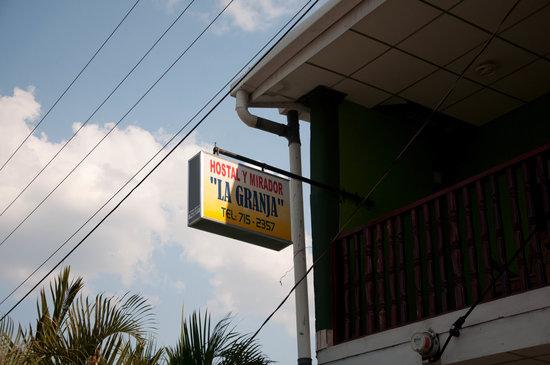 Condega, Nicaragua: Sign
