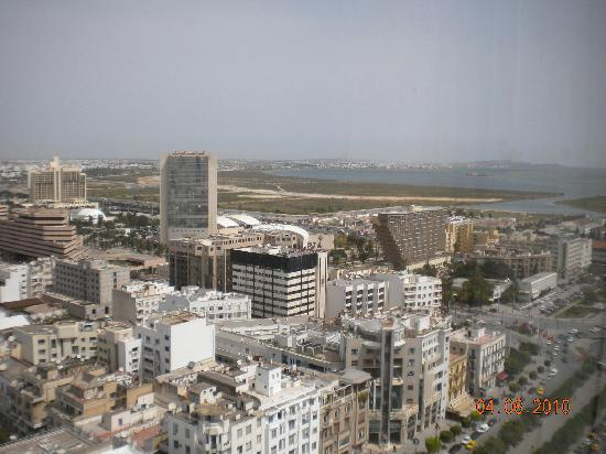 Africa Hotel: view from window (22nd floor)