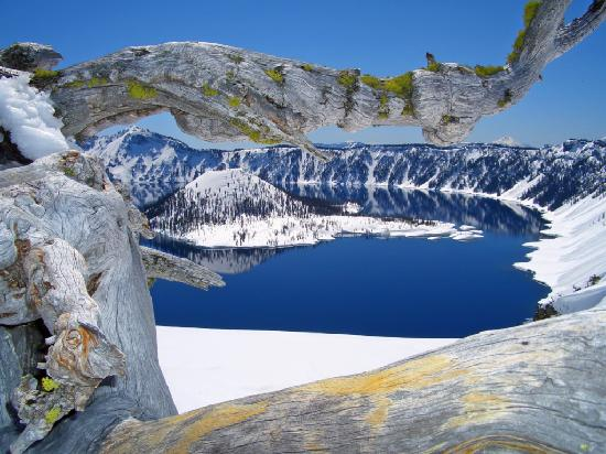 Crater Lake Winter Picture Of Rim Drive Crater Lake National - 10 cool landmarks in crater lake national park